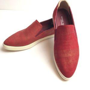 Mark Nason leather slip on sneakers
